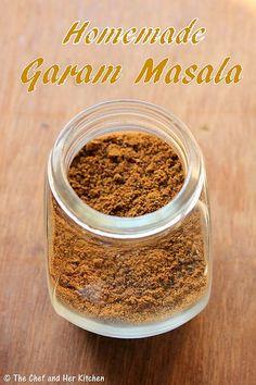 Gram Masala Recipe, Punjabi Garam Masala Recipe, Garam Masala Powder Recipe, Homemade Spices, Homemade Seasonings, Graham, Marsala Recipe, Masala Spice, Chutney Recipes