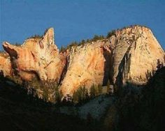 A rock formation that looks like a sleeping cat.