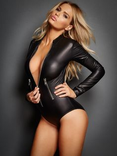 Bree 4 Way Stretch Long Sleeve Zip Front Bodysuit