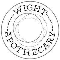 The logo we created for Wight Apothecary. Apothecary, Symbols, Letters, Logos, Logo, Pharmacy, Letter, Lettering, Glyphs