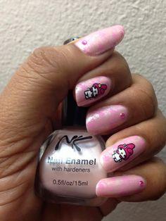Mani My Melody! Plate Fab Ur Nails Fun 10, Nail Polish NK & konad Pink!