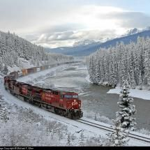 Canadian Pacific Railway - Morant S Curve - Alberta, Canada - by Michael F. Allen