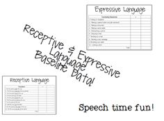 Speech Time Fun: Show Me The Data! Linky Fun!  New product for collecting baseline data!!!