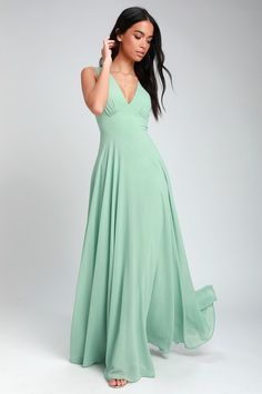 d38bc4941c3 Here for Love Sage Green Sleeveless Maxi Dress