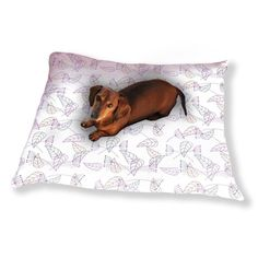 Uneekee Stylized Plants Dog Pillow Luxury Dog / Cat Pet Bed