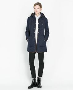 Image 1 of LONG QUILTED JACKET from Zara