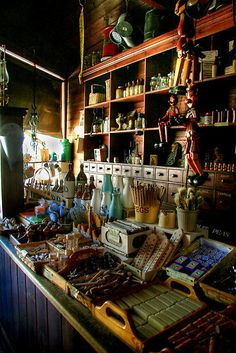 'Inside the General Store at Sovereign Hill, Victoria' by Christine Smith Old Country Stores, Country Life, Bar Interior Design, Vintage Architecture, Shop Fronts, General Store, Grocery Store, Vacation Ideas, Childhood Memories