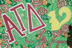A very talented GT Alpha Gam made this wonderful canvas!