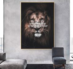 Canvas Poster, Canvas Wall Art, Wall Art Prints, Canvas Prints, Nordic Art, Nordic Style, Lion Poster, Decorating With Pictures, Wall Art Quotes