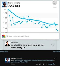 "Pierre G. (twitter.com/Nilzenx) a tweeté : "" Merci @b_lemetayer. #saucisson #blackberry #jawboneup #withings  pic.twitter.com/VLVtJrPYBl "" En savoir plus : http://www.withings.com/fr/bodyanalyzer"