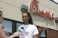 """HUNTSVILLE, Alabama -- Huntsville YouTube sensation Antoine Dodson is gay, and today he wanted a spicy chicken sandwich for lunch. .... """"We don't all have to believe in the same things,"""" Dodson said this afternoon. """"We all have our different beliefs and can still come together and still be friends and be cool with each other."""""""