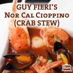 The Chew: Guy Fieri Nor Cal Cioppino Recipe + Dungeness Crab Season
