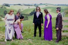 """ A Minor-adjustment-moment"" at Belinda & Tom's Poowong  East wedding with Anthony T Reynolds Gippsland Photography"