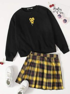 Girls Fashion Clothes, Teen Fashion Outfits, Girly Outfits, Retro Outfits, Outfits For Teens, Teen Girl Clothes, Indie Clothes, Women's Fashion, Cute Girl Outfits
