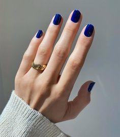 Nail Color Trends 2021: Navy Matte Nail Colors, Matte Nails, Gel Nails, Nail Colour, Dark Color Nails, Dark Blue Nails, Nail Polish, January Nail Colors, Popular Nail Colors
