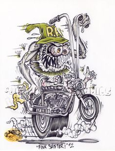 Find Quotes For Everything Ed Roth Art, Harley Bikes, Rat Fink, Garage Art, Weird Cars, Lowbrow Art, Big Daddy, Cycling Art, Bike Art