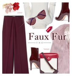 """""""Faux Fur"""" by cilita-d ❤ liked on Polyvore featuring Marni, Gianvito Rossi, Miu Miu, MANU Atelier, Cutler and Gross and JULIANNE"""