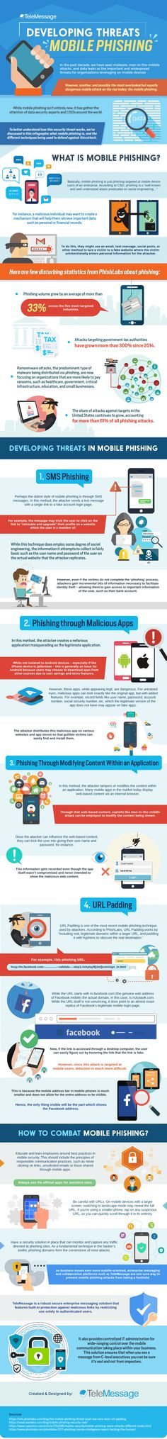 How to Safeguard from Mobile Phishing Attacks - Infographic #malwarehacks