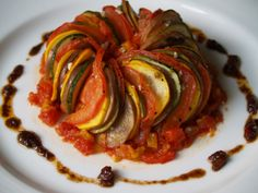 Persimmon and Peach: Thomas Keller& Ratatouille Gourmet Recipes, Vegetarian Recipes, Healthy Recipes, Sweet Recipes, Vegetable Dishes, Vegetable Recipes, Vegetable Tart, Vegetable Stew, Gastronomia