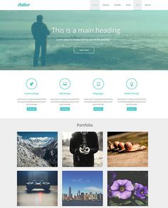 A free html css template with all required page elements in a single page is getting interest among many brands. Onepage theme layout design is pretty easy to scroll through your website product features with right blend of awareness and call to action. #free #freehtml #css #hml #webdesign