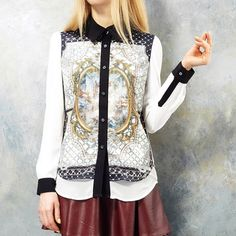 Contrast Collar Shirt Baroque, 47€, now featured on Fab.