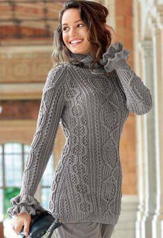 Пуловер реглан с «косами» - SHPULYA.com