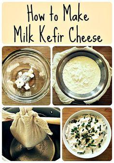 milk kefir cheese collage 2