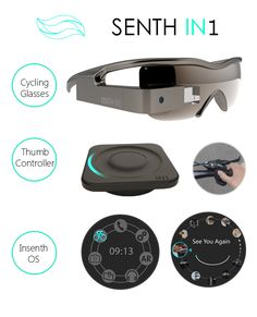 SENTH IN1: The first true AR cycling glasses | Indiegogo