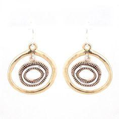 Tribal Hammered Swirl Earrings