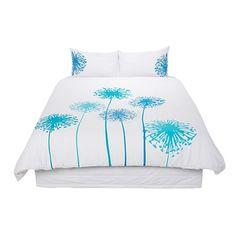 Habito Duvet Cover Set Florets Teal Queen - Bedspreads & Duvet Covers - Bedroom - Homewares - The Warehouse