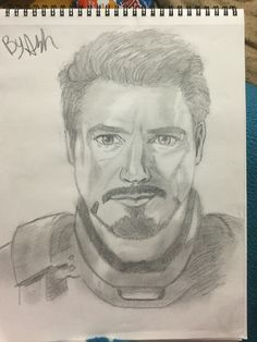 Iron man by face