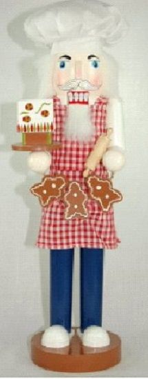 Wooden Baker Christmas Nutcracker 14 Inches