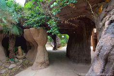 Albuquerque Rio Grande Botanic Garden - a series of mole tunnels