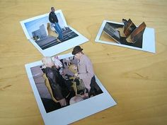 Would make fun homemade greeting cards! pop-up polaroids (Marcus Kison)