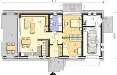 Projekt domu Lancaster II DCB104a 84,33 m² - koszt budowy - EXTRADOM Bungalow, Lancaster, Floor Plans, How To Plan, Dreams, Houses, Floor Plan Drawing, Rambler House