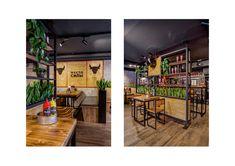 #FARШ PUSHKINSKAYA on Behance Burger Restaurant, Restaurant Design, 3d Visualization, Behance