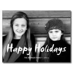 Happy Holidays Christmas Photo Holiday Wishes Fun Postcard
