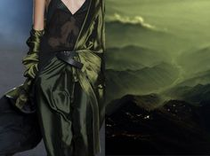 Haider Ackermann S/S 2014. Collage by Liliya Hudyakova