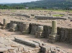 Hadrian's Wall - Corbridge settlement, main street - Northumberland, England.
