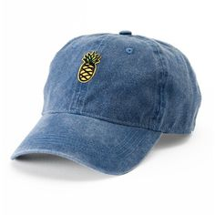 db8e717e6b7 Women s SO® Denim Pineapple Patch Baseball Cap ( 13) ❤ liked on Polyvore  featuring