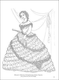 Civil War Coloring Pages | Civil War Fashions Coloring Book | Additional photo (inside page)