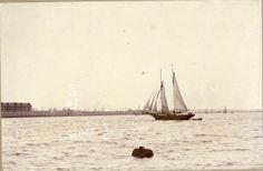 """Inspektøren for Krydstoldvæsenet var særdeles tilfreds med de to skibe. Derfor blev N.F. Hansen eneleverandør af krydsfartøjer. I 1877-78 flyttede værftet fra Kerteminde til Odense og frem til 1899 leverede man 20 nybyggede skibe til Krydstoldvæsenet. Af disse var inspektionsskonnerten """"Argus"""" fra 1895 den største.  Her ses """"Argus"""" i Københavns Havn ca. 1900 med Frihavnen  i baggrunden."""