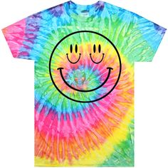 SMIZE Tie Dye T-Shirt (Select Size) ($22) ❤ liked on Polyvore featuring tops, t-shirts, shirts, t shirt, tye dye shirts, cotton t shirt, tie dyed shirts, shirts & tops and tye die t shirts