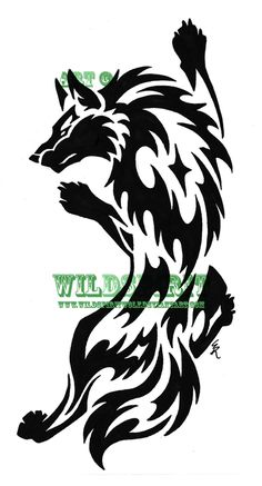 Google Image Result for http://fc07.deviantart.net/fs49/i/2009/196/5/7/Climbing_Wolf_Tribal_Tattoo_by_WildSpiritWolf.png