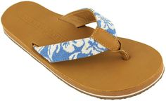 c804540dc Hibiscus Needle Point Flip Flops in Tan Leather by Smathers an Branson  Sandals