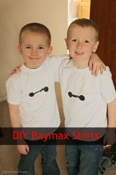 Show your Big Hero 6 pride with this easy DIY Baymax shirt. #BigHero6Release #ad