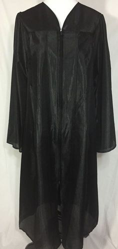 "Black Graduation Gown 5' to 5'2"" Home School Choir Robe Costume"