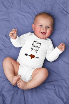 Jesus Saves Y'all Religious Baby Onesie or Shirt