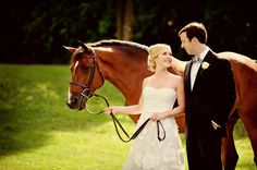 The horse is staring at someone with a treat ..... equestrian wedding