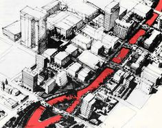 Kevin Lynch's schemes from the book The Image Of The City Architecture Drawings, Architecture Portfolio, Urban Landscape, Landscape Design, Kevin Lynch, Urban Design Plan, Build A Better World, Model Sketch, Urban Analysis